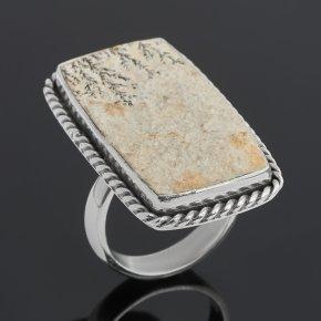 Кольцо яшма дендритовая Россия (серебро 925 пр.) (регулируемый) размер 17