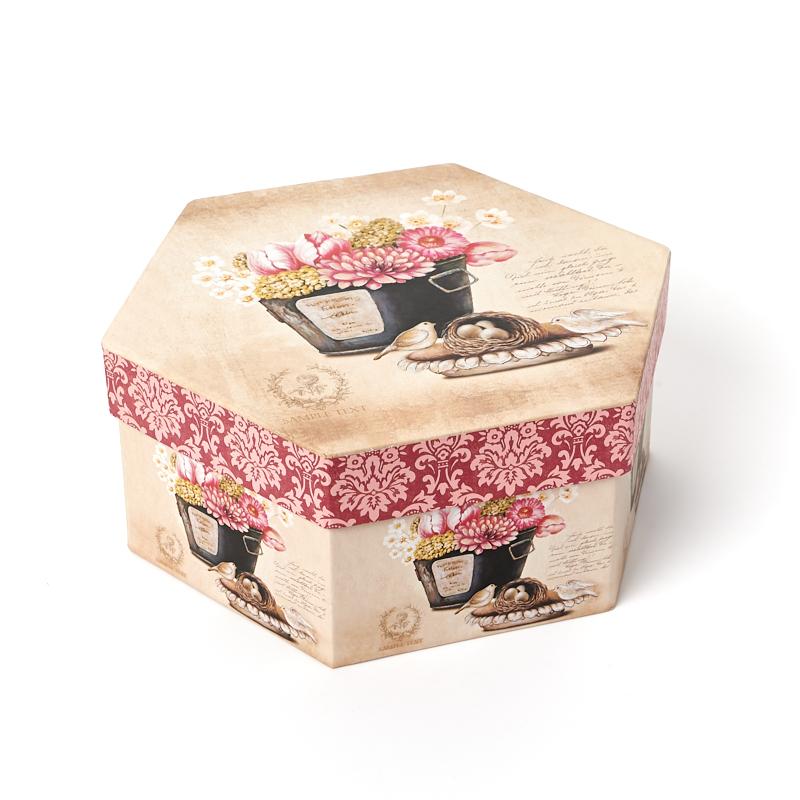 Подарочная упаковка (картон) универсальная (коробка) (микс) 210х185х90 мм