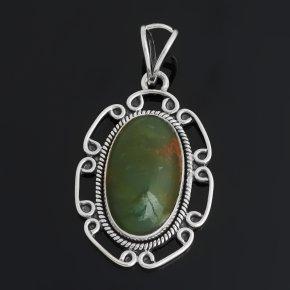 Кулон хризопраз Австралия (серебро 925 пр. оксидир.)