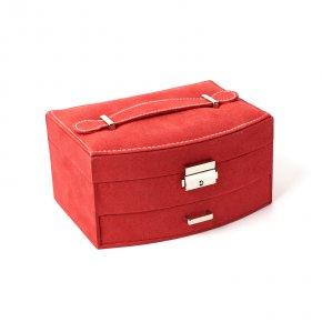 Шкатулка для хранения украшений (красный) 200х145х100 мм