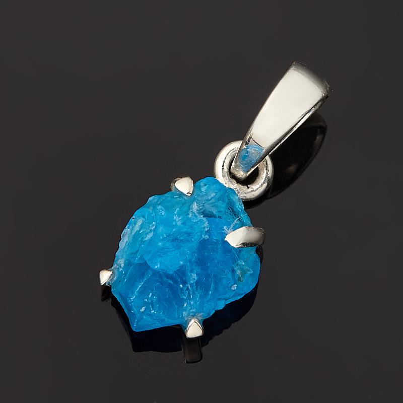 Кулон апатит синий  (серебро 925 пр.) кристалл