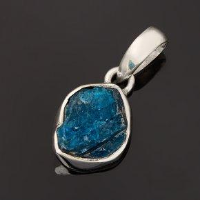 Кулон апатит синий Бразилия (серебро 925 пр.) кристалл
