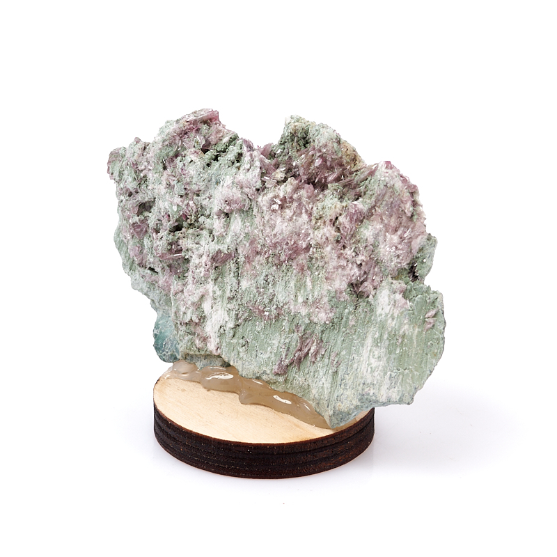 Образец микс диопсид, клинохлор (серафинит) (на подставке) M (7-12 см)
