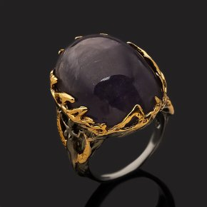 Кольцо танзанит Танзания (серебро 925 пр. позолота, родир. сер.) размер 18