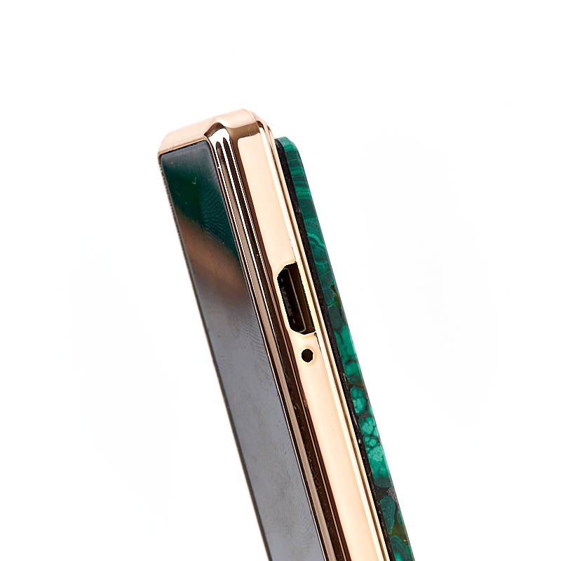 Зажигалка малахит Конго (биж. сплав) 8,5 см
