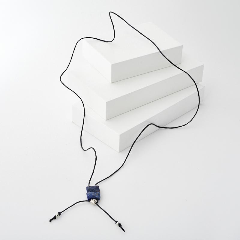 Кулон содалит Бразилия (биж. сплав, текстиль) прямоугольник огранка