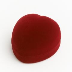 Подарочная упаковка (текстиль) под кольцо/серьги (футляр) (бордовый) 60х55х35 мм