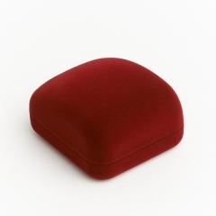 Подарочная упаковка (текстиль) под серьги (футляр) (бордовый) 60х50х30 мм