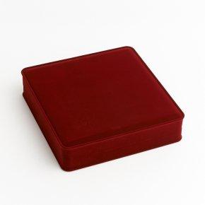 Подарочная упаковка (текстиль) под колье (футляр) (красный) 190х185х45 мм