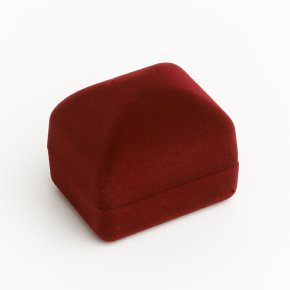 Подарочная упаковка (текстиль) под кольцо/серьги (футляр) (бордовый) 45х35х35 мм