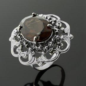 Кольцо раухтопаз Бразилия (серебро 925 пр. оксидир.) огранка размер 18