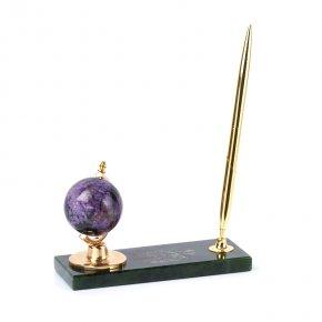 Письменный набор микс нефрит, чароит 16,5х6х10 см