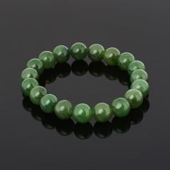 Браслет нефрит зеленый Россия 10 мм 17 см