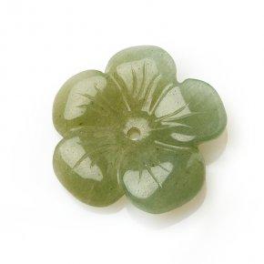 Пуговица авантюрин зеленый Зимбабве 2,5 см
