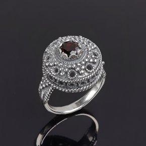Кольцо гранат альмандин Индия (серебро 925 пр. оксидир.) огранка (регулируемый) размер 16