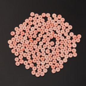Бусина коралл розовый Индонезия шайба 4 мм (1 шт)
