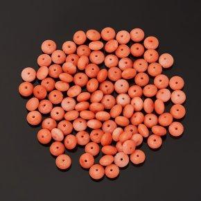 Бусина коралл розовый Индонезия кукуруза 5 мм (1 шт)