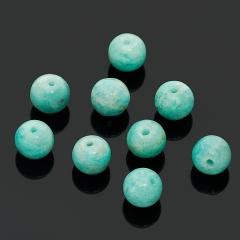 Бусина амазонит Перу шарик 8 мм (1 шт)