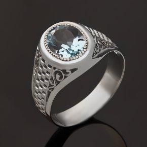 Кольцо топаз голубой Бразилия (серебро 925 пр. родир. бел.) огранка размер 19,5