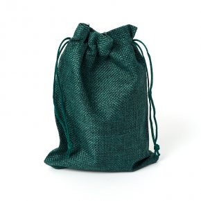 Подарочная упаковка (текстиль) универсальная (мешочек плоский) (зеленый) 130х180 мм
