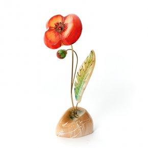 Цветок на подставке селенит Россия 20 см