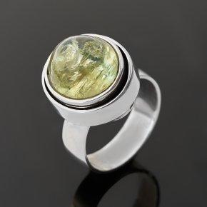 Кольцо берилл желтый (гелиодор) Россия (серебро 925 пр. оксидир.) размер 18