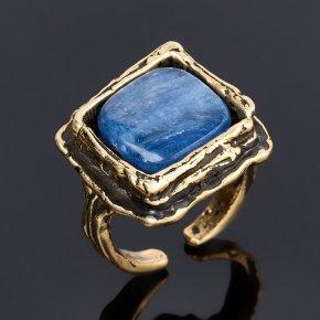 Кольцо кианит синий Бразилия (бронза) (регулируемый) размер 17,5
