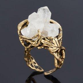 Кольцо горный хрусталь Бразилия (бронза) (регулируемый) размер 17,5