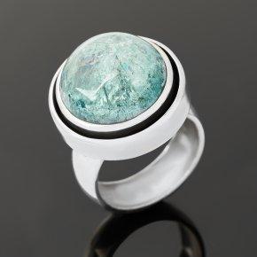 Кольцо аквамарин Бразилия (серебро 925 пр. оксидир.) размер 17,5