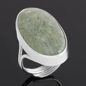 Кольцо пренит ЮАР (серебро 925 пр. родир. бел.) (регулируемый) размер 18