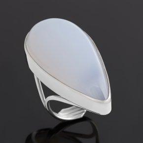 Кольцо халцедон Индия (серебро 925 пр. родир. бел.) (регулируемый) размер 17,5