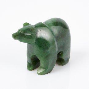 Медведь нефрит зеленый Россия 7 см