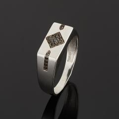 Кольцо бриллиант Россия (серебро 925 пр. родир. бел.) огранка размер 19