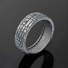 Кольцо бриллиант Россия (серебро 925 пр. родир. сер.) огранка размер 20,5