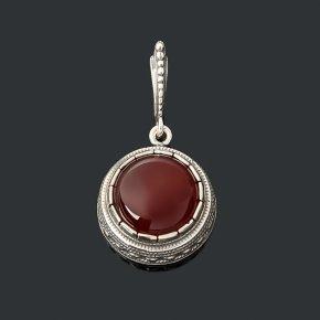 Кулон сердолик Ботсвана (серебро 925 пр. оксидир.)