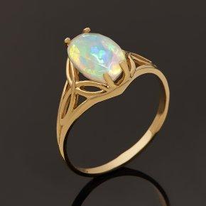 Кольцо опал благородный белый Эфиопия (золото 585 пр.) огранка размер 17,5