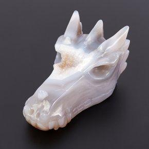 Дракон агат серый Ботсвана 13 см