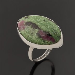 Кольцо цоизит Бразилия (серебро 925 пр.) размер 18