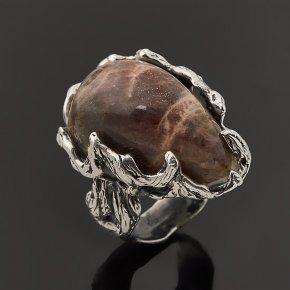 Кольцо солнечный камень Россия (серебро 925 пр.) размер 18