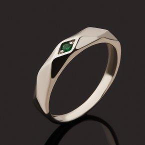 Кольцо изумруд Колумбия (серебро 925 пр. родир. бел.) огранка размер 15,5