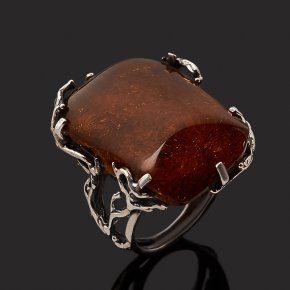 Кольцо янтарь Россия (серебро 925 пр.) размер 18,5