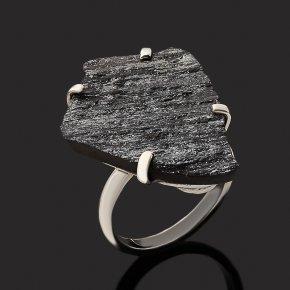 Кольцо авантюрин черный Россия (серебро 925 пр.) размер 17