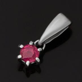 Кулон рубин Мьянма (серебро 925 пр. родир. бел.) огранка