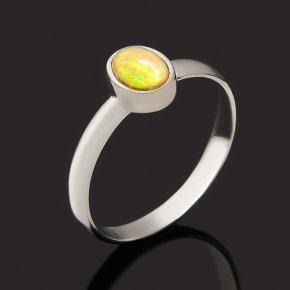 Кольцо опал благородный желтый Эфиопия (серебро 925 пр. родир. бел.) размер 18,5
