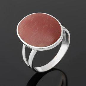 Кольцо халцедон Бразилия (серебро 925 пр. родир. бел.) размер 17