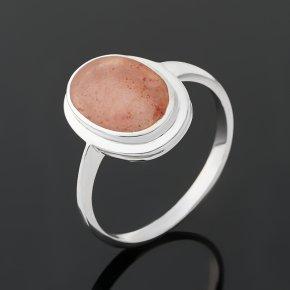 Кольцо халцедон Бразилия (серебро 925 пр. родир. бел.) размер 18