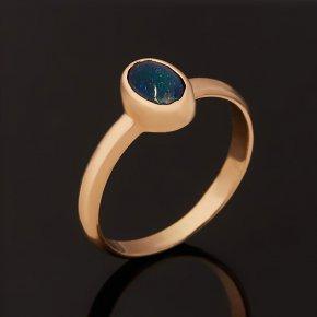 Кольцо опал благородный синий Австралия (золото 585 пр.) размер 17,5