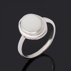 Кольцо кахолонг Казахстан (серебро 925 пр. родир. бел.) размер 17,5