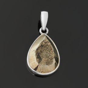 Кулон пирит Перу (серебро 925 пр.) капля