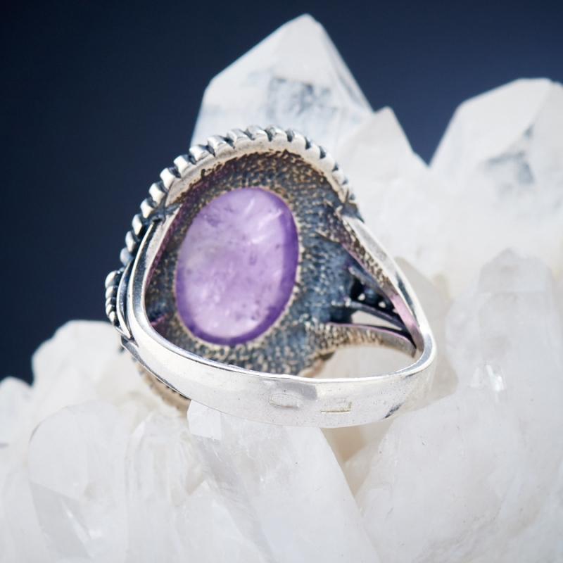 [del] Кольцо аметист Бразилия (серебро 925 пр.)  размер 17